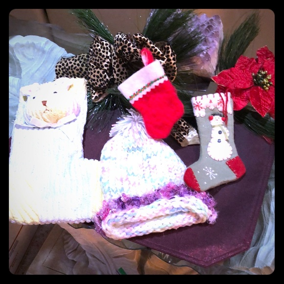 Other - BABY CHRISTMAS STOCKINGS AND HAT